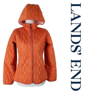 🌺 LANDS' END Quilted Hooded Puffer Jacket